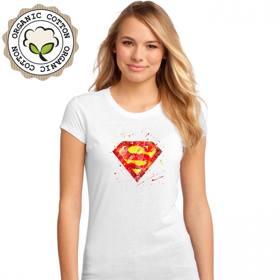 Dámské tričko Bílé SuperGirl P-W-190