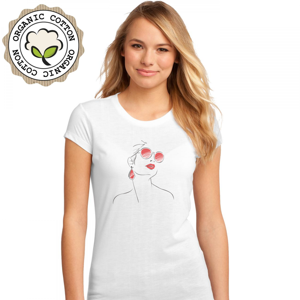 Dámské tričko Bílé Pretty Girl P-W-192