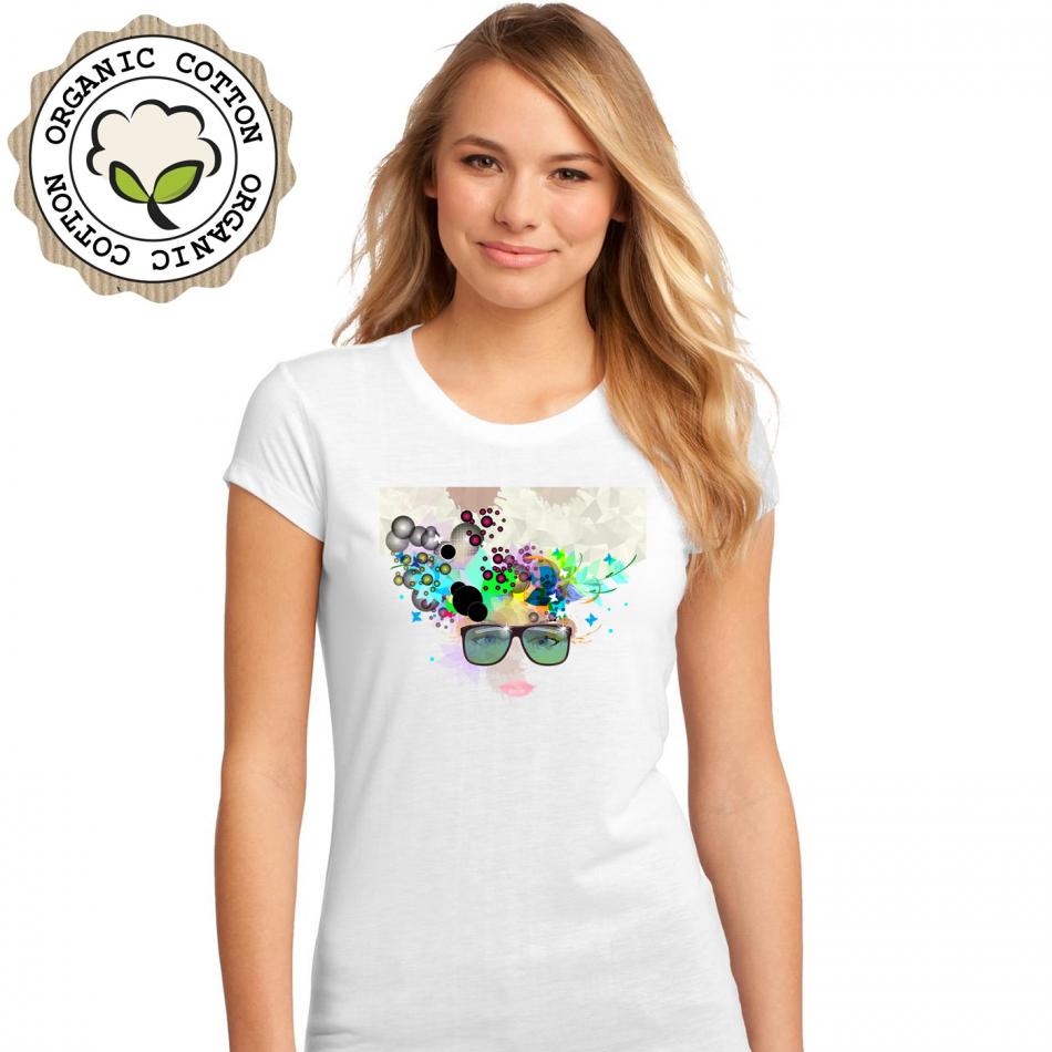 Dámské tričko Bílé Girl P-W-193