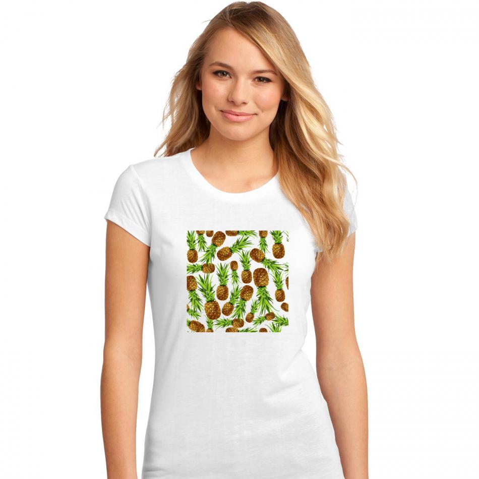 Dámské tričko Bílé Pineapples P-W-194