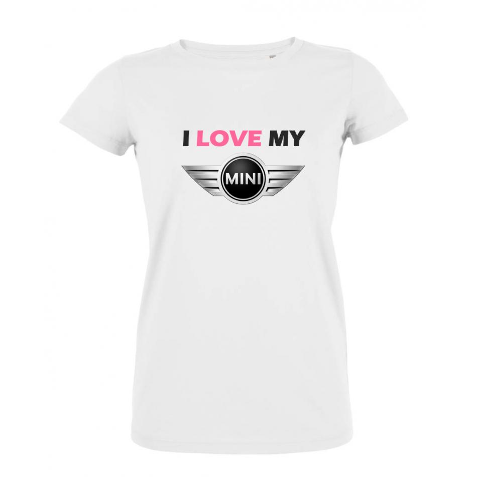 Dámské tričko Bílé I LOVE MY MINI COUPER P-W-198