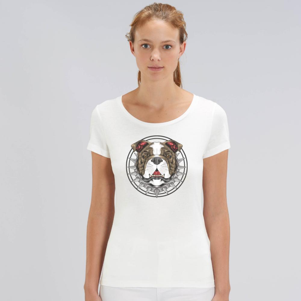 Bílé dámské tričko z organické bavlny  Beast Dog