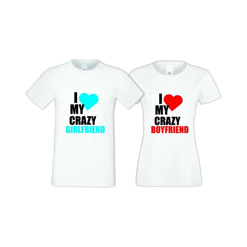 Trička pro pary I Love My Crazy  S-CP-006