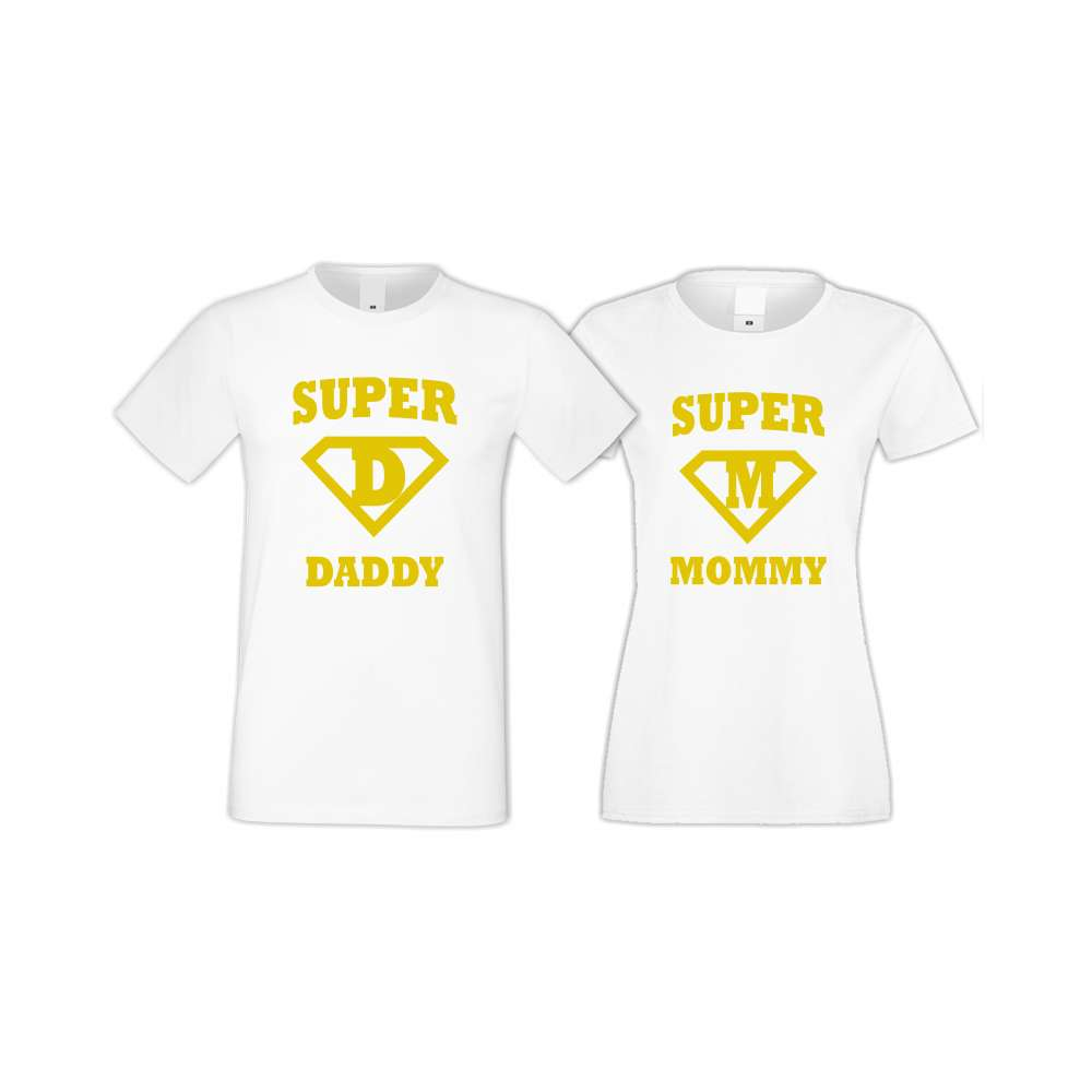 Trička pro pary SuperDaddy - Super Mommy  S-CP-115