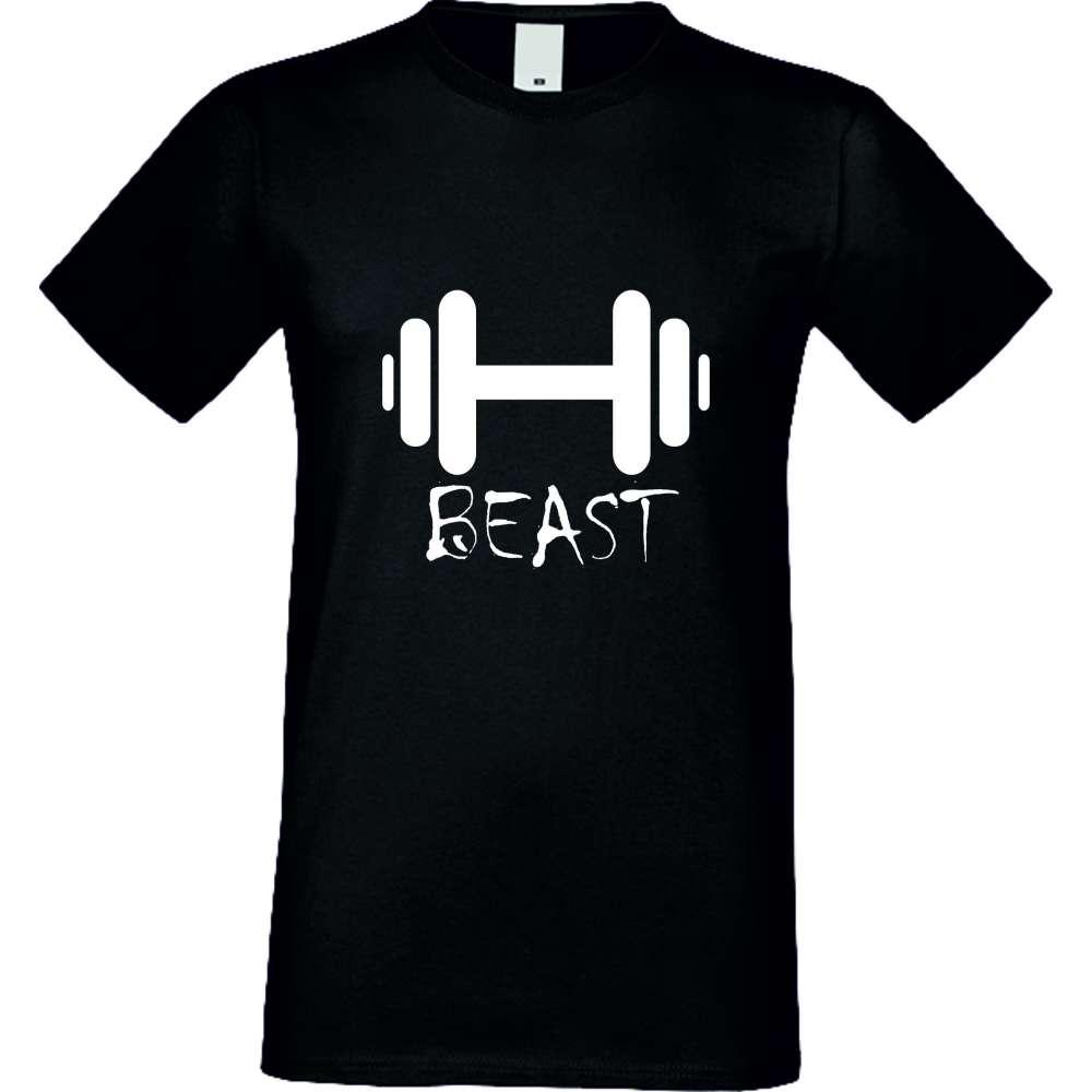 Panske tričko  Beast crna S-M-029B