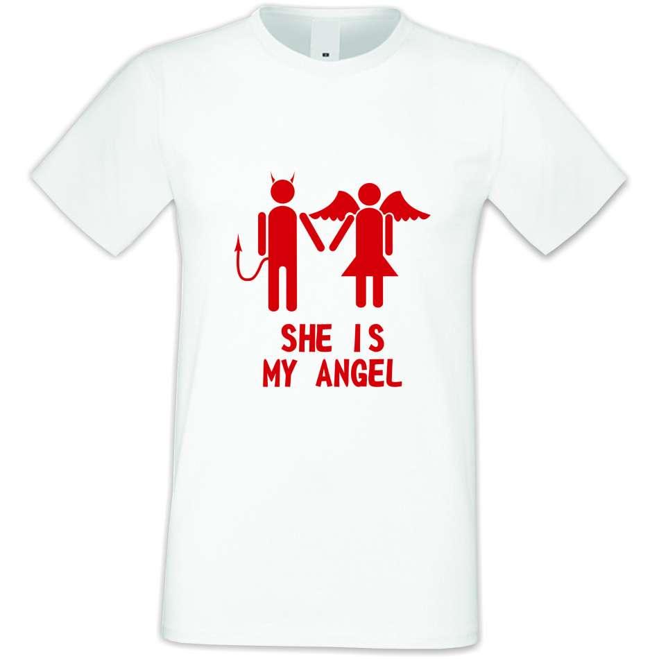 Panske tričko  She is My Angel  S-M-031