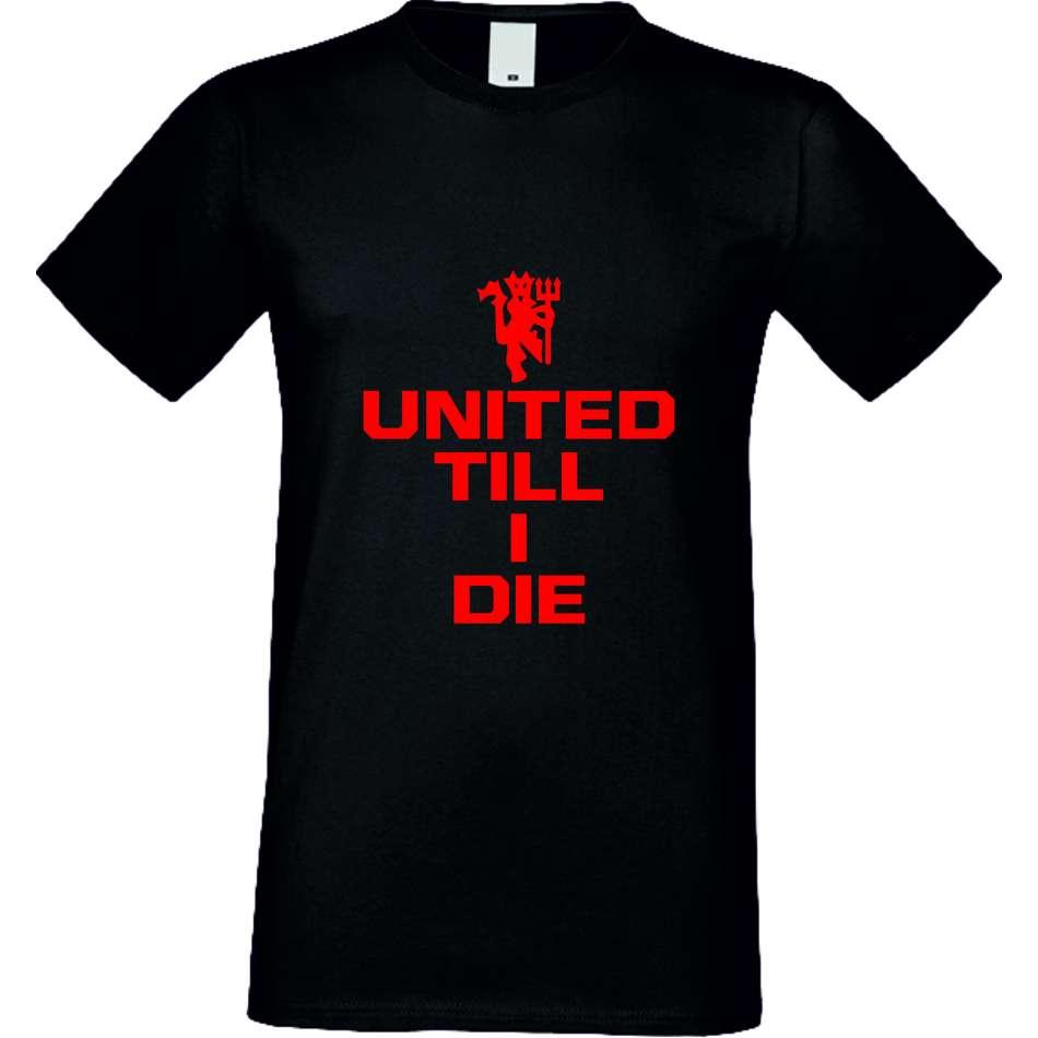 Panske tričko  United till I die crna S-M-036B