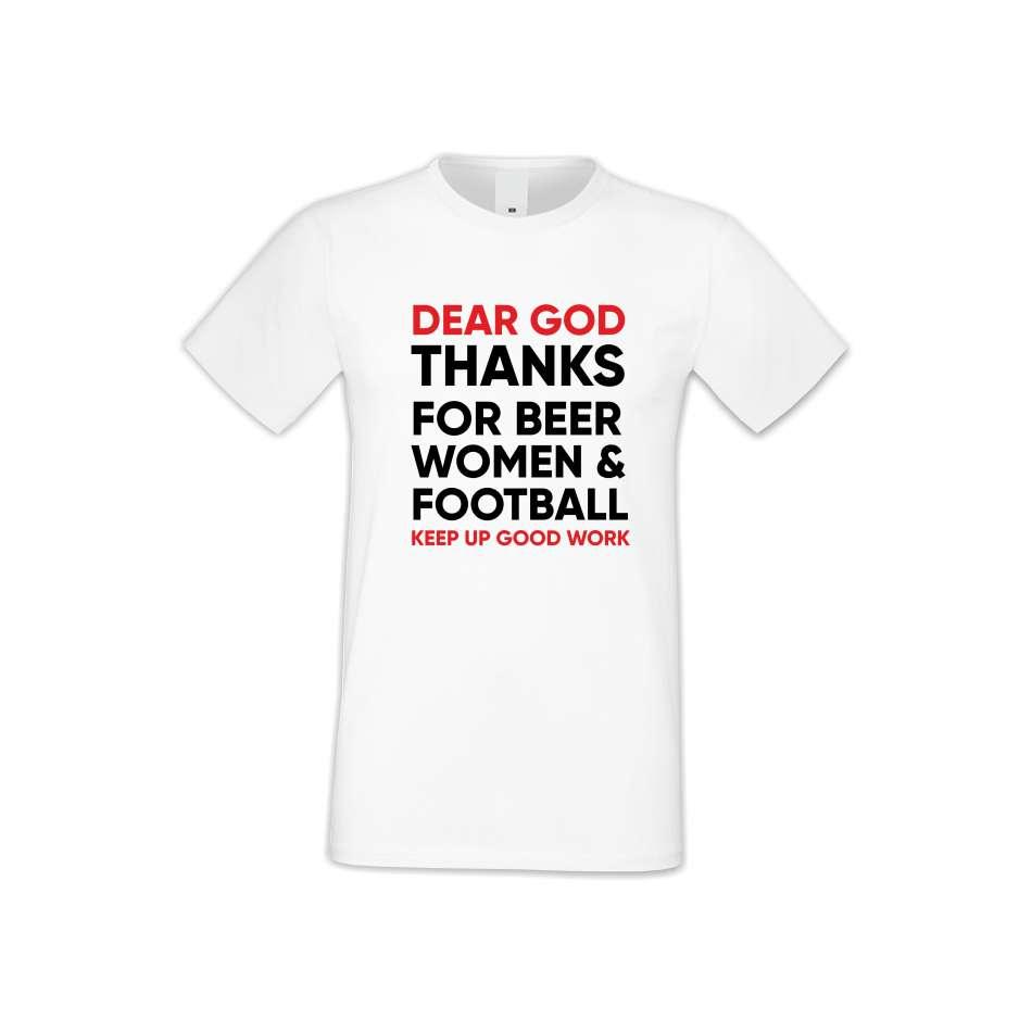 Panske tričko  Dear God Thanks  S-M-135