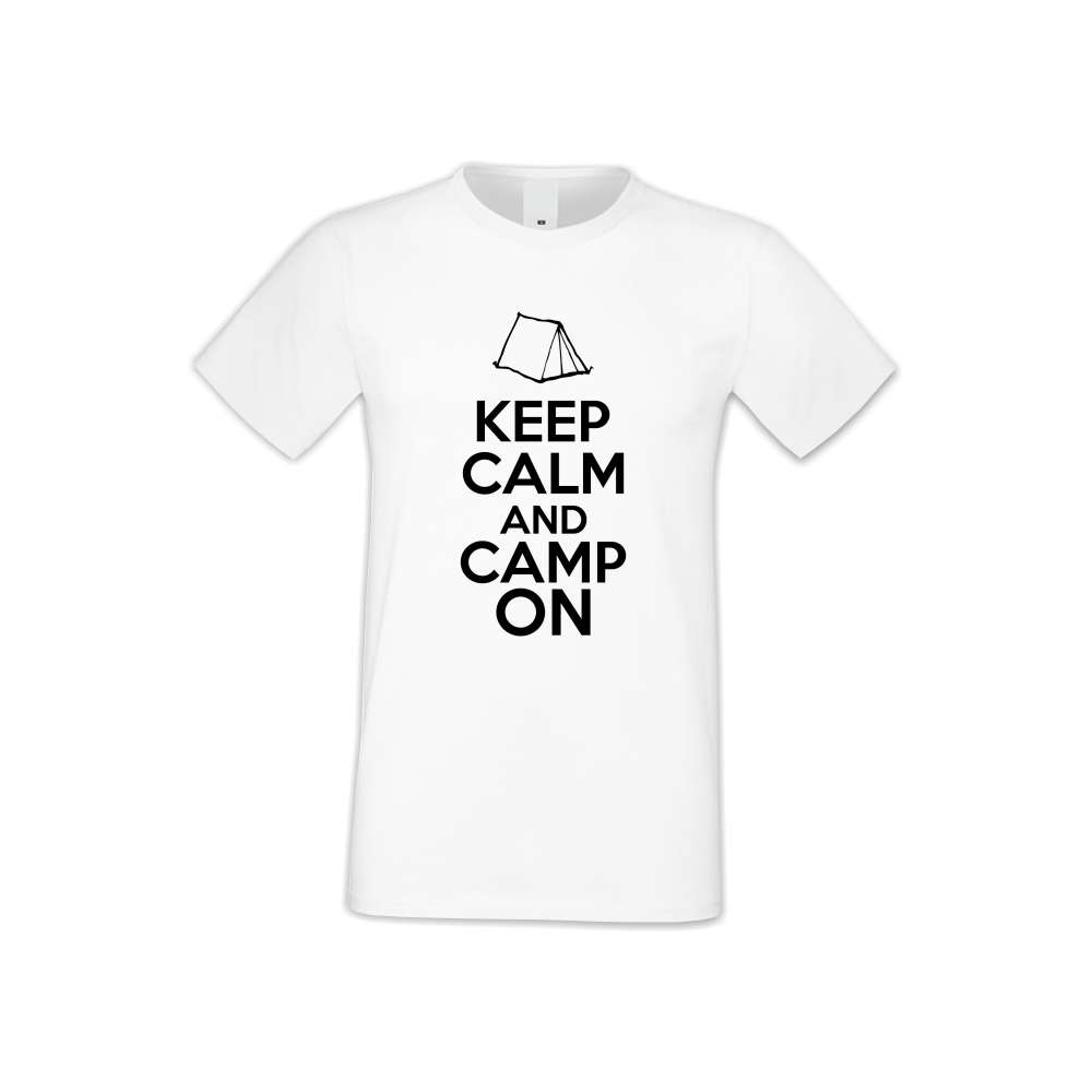 Panske tričko  Keep Calm and Camp On  S-M-148