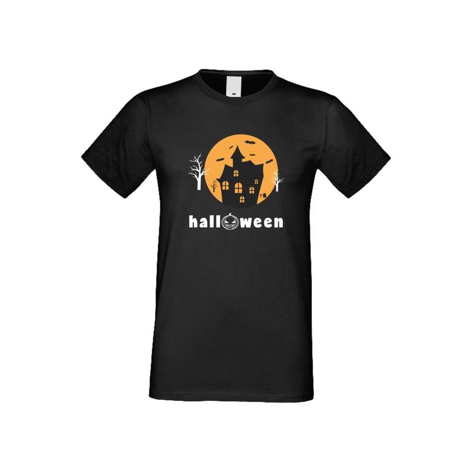 Panske tričko  Halloween crna S-M-161B