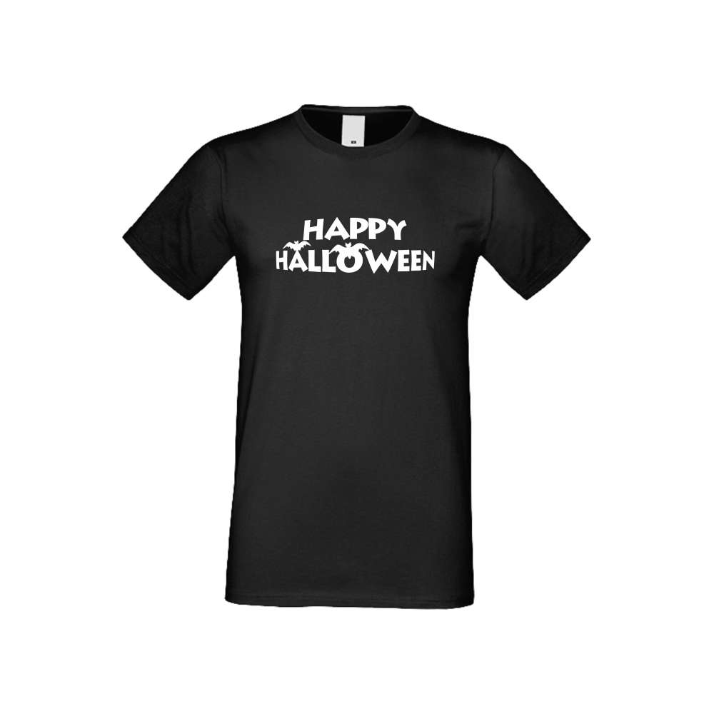 Panske tričko  Happy Halloween 2 crna S-M-166B