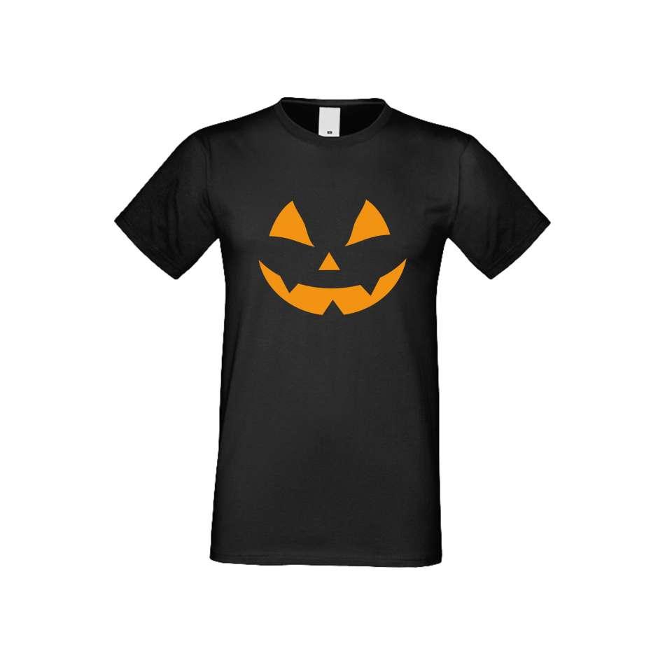 Panske tričko  Halloween face crna S-M-167B