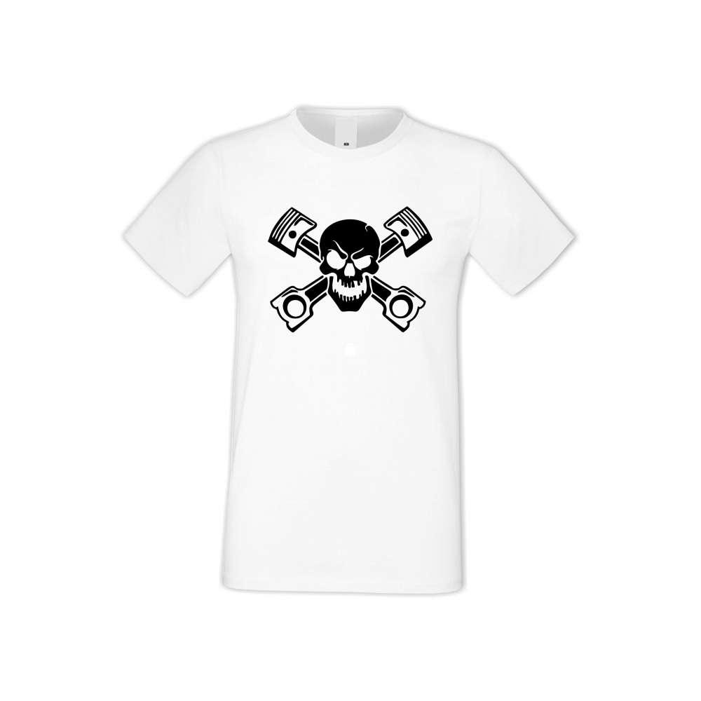 Panske tričko  SKULL  S-M-AU-022