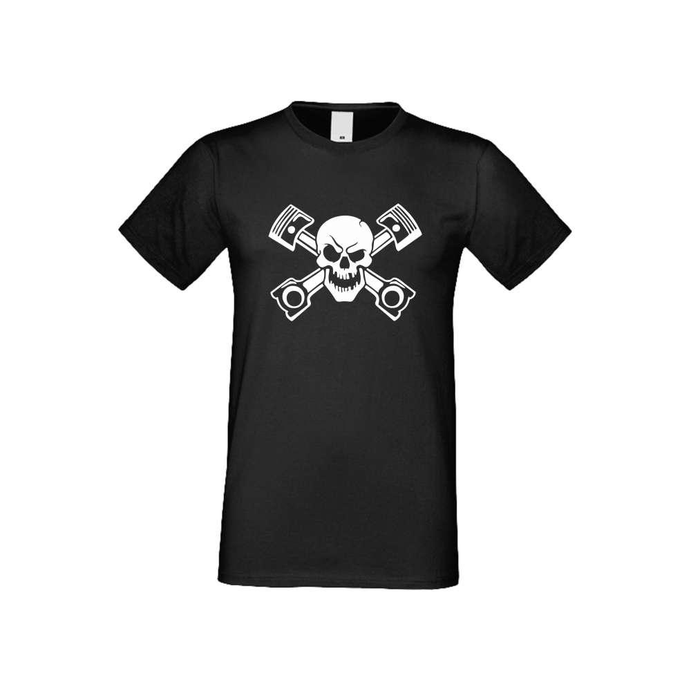 Panske tričko  SKULL crna S-M-AU-022B