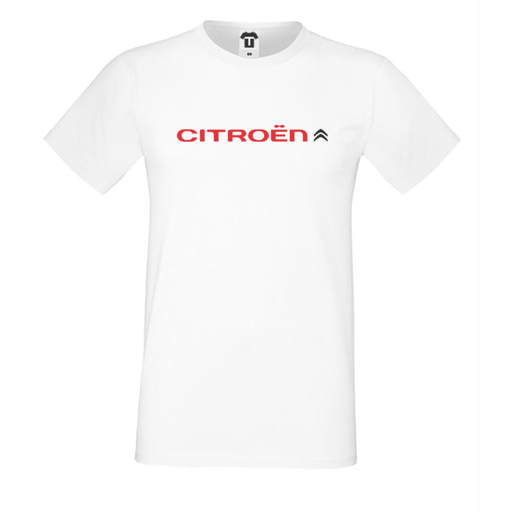 Bílé pánské triko Citroen D-M-051