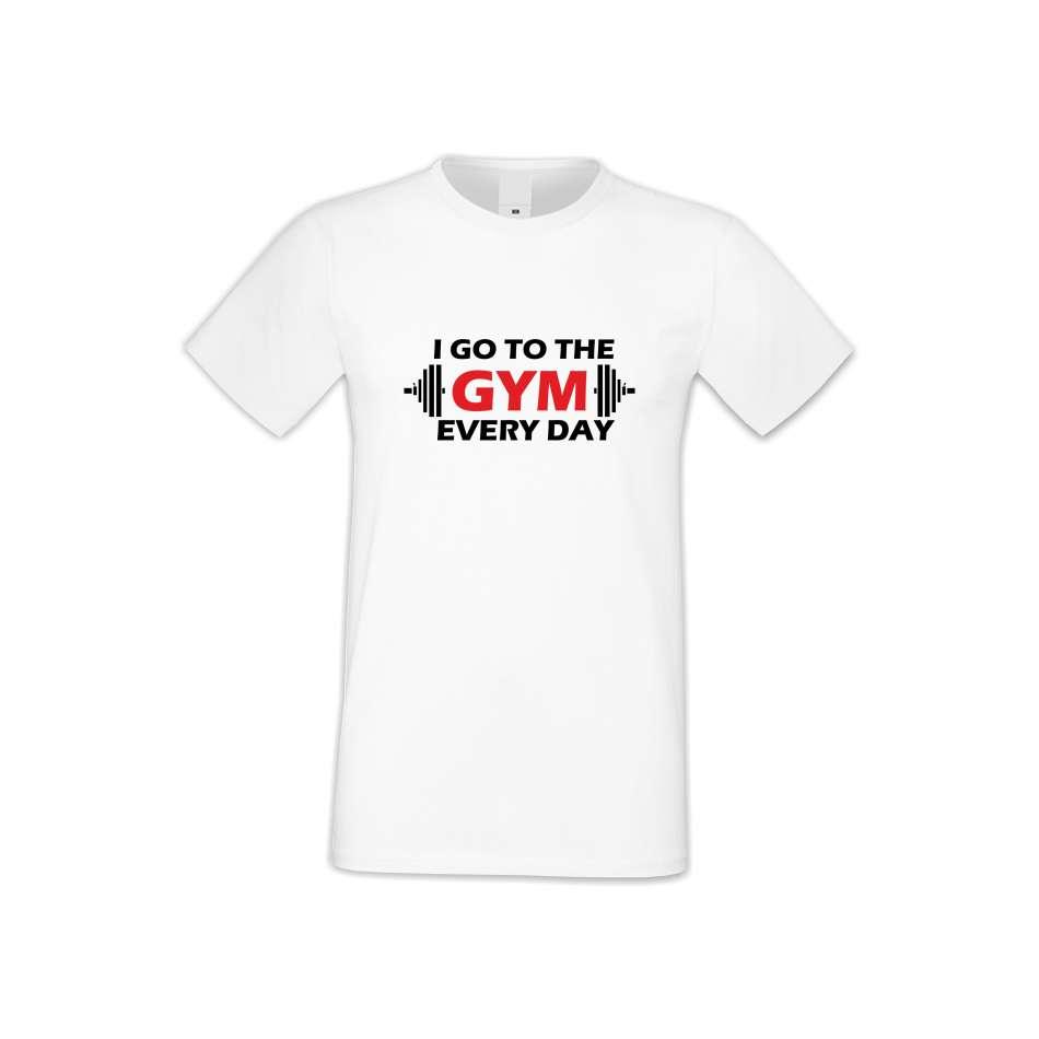 Panske tričko  Go to Gym everyday  S-M-FIT-009