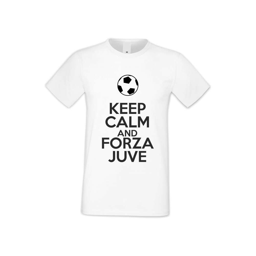 Panske tričko  KEEP CALM and FORZA JUVE  S-M-FOOT-001