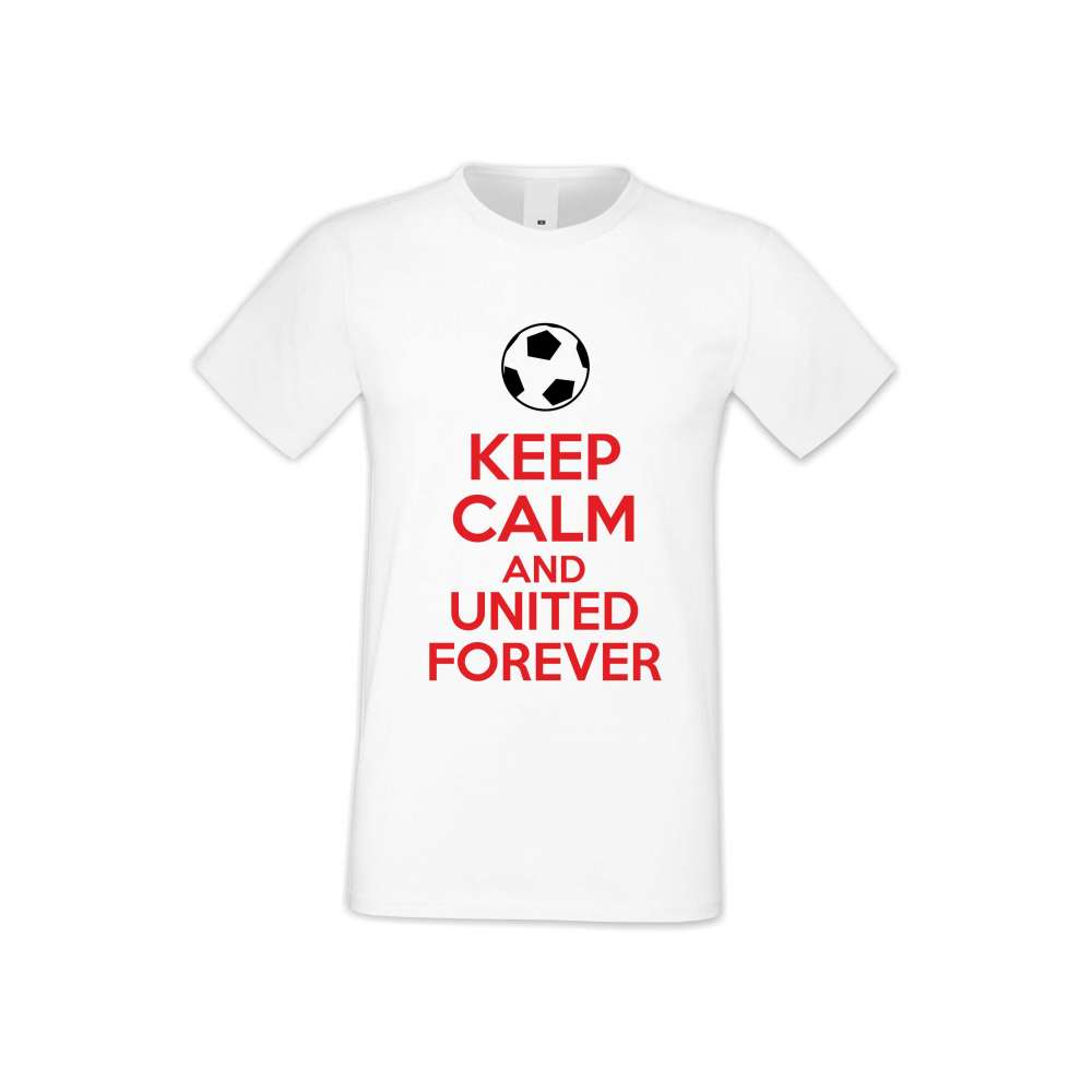 Panske tričko  KEEP CALM and UNITED FOREVER  S-M-FOOT-002