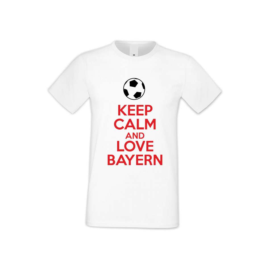 Panske tričko  KEEP CALM and LOVE BAYERN  S-M-FOOT-003