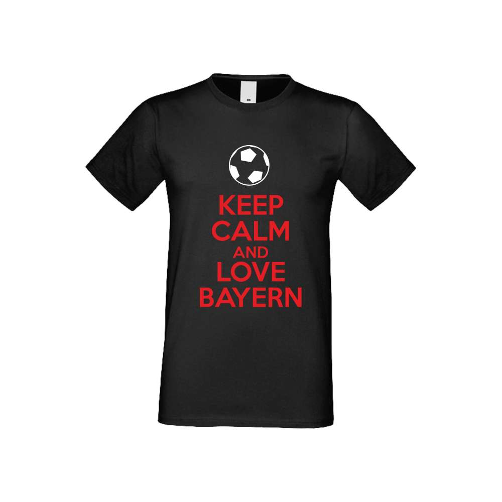 Panske tričko  KEEP CALM and LOVE BAYERN crna S-M-FOOT-003B