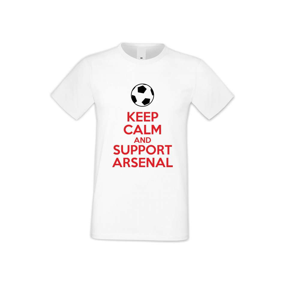 Panske tričko  KEEP CALM and SUPPORT ARSENAL  S-M-FOOT-005