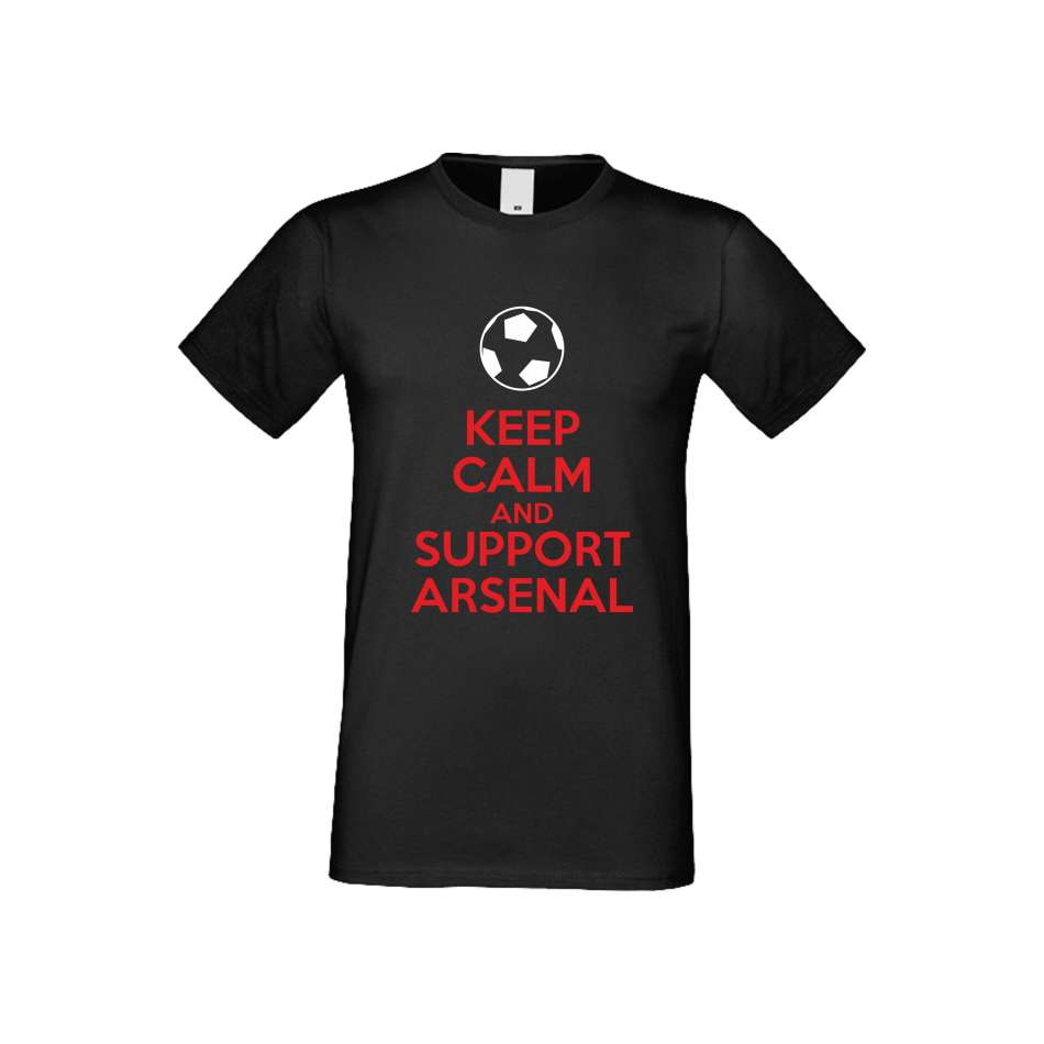 Panske tričko  KEEP CALM and SUPPORT ARSENAL crna S-M-FOOT-005B