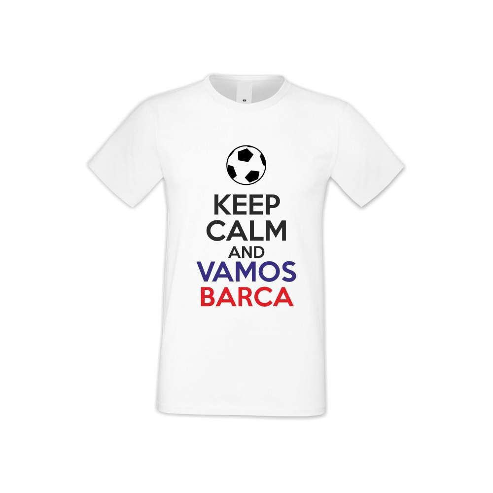 Panske tričko  KEEP CALM and VAMOS BARCA  S-M-FOOT-007