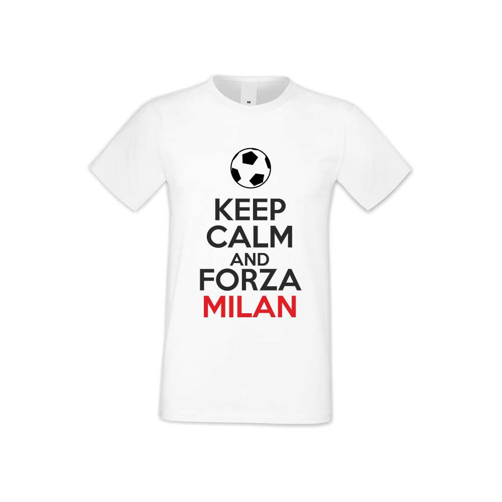 Panske tričko  KEEP CALM and FORZA MILAN  S-M-FOOT-008
