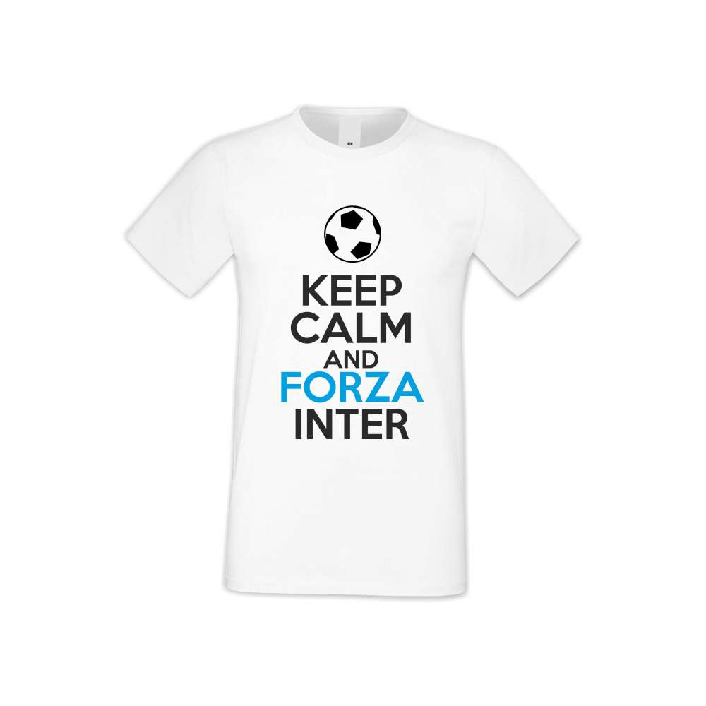 Panske tričko  KEEP CALM and FORZA INTER  S-M-FOOT-009