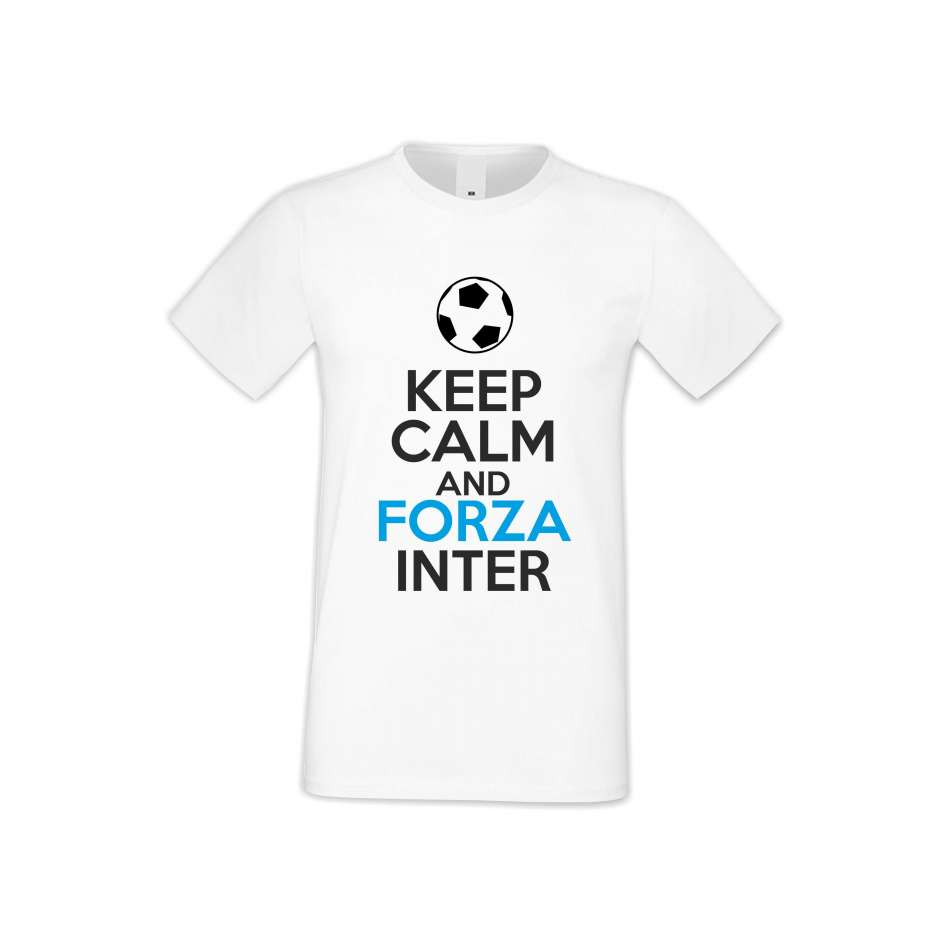 Panske tričko  KEEP CALM and FORZA INTER  S-M-FOOT-009