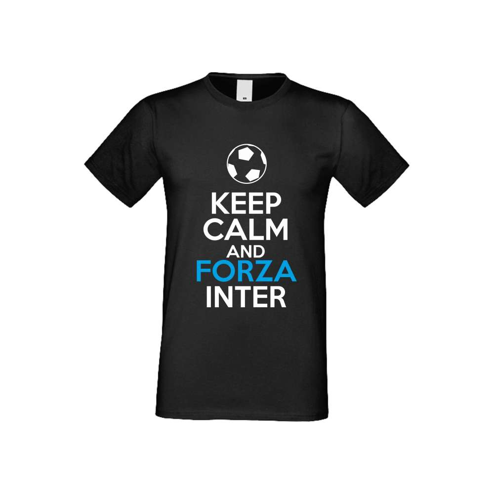 Panske tričko  KEEP CALM and FORZA INTER crna S-M-FOOT-009B
