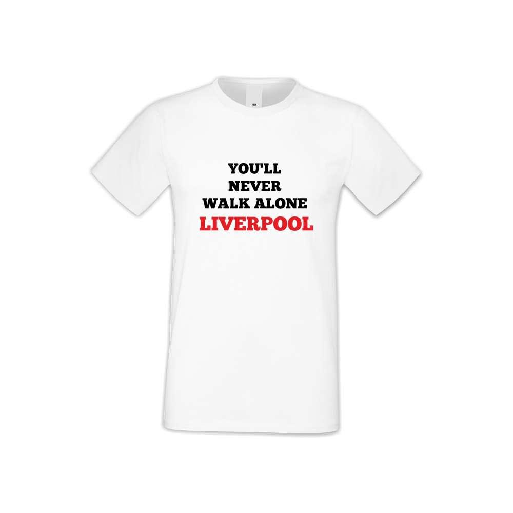 Panske tričko  You Will Never Walk Alone Liverpool  S-M-FOOT-011