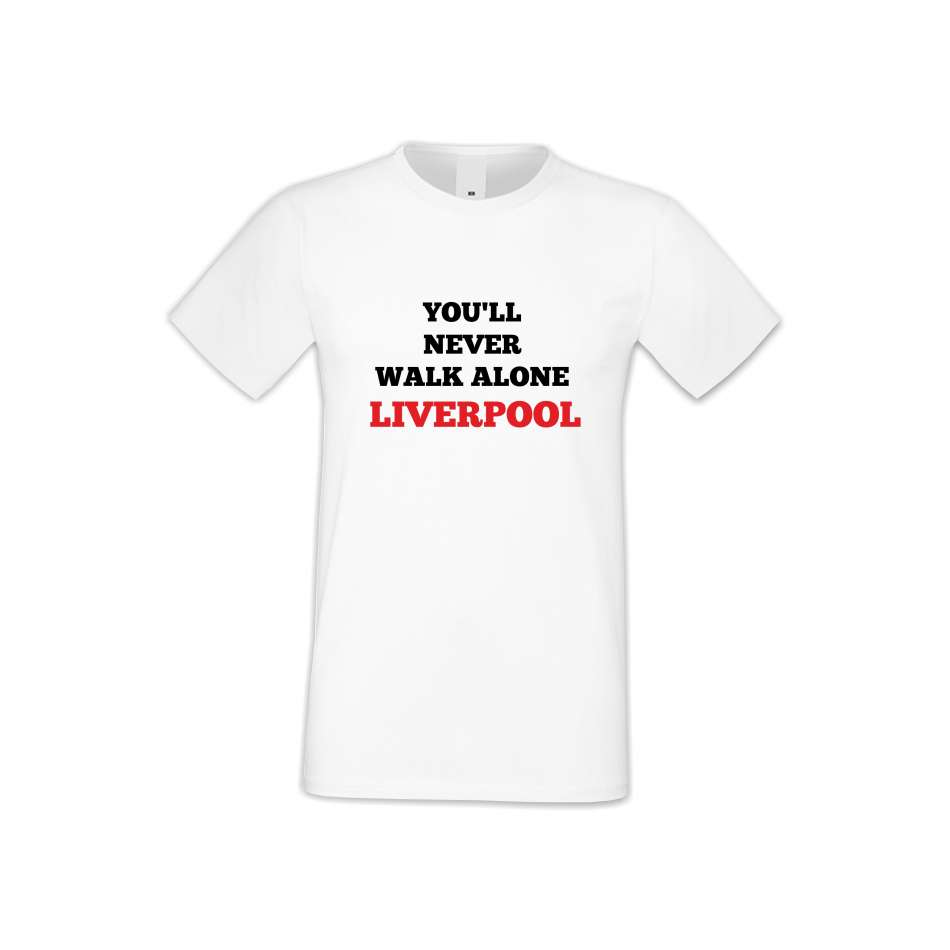 Panske tričko  You Will Never Walk Alone Liverpool  S-M-FOOT-011