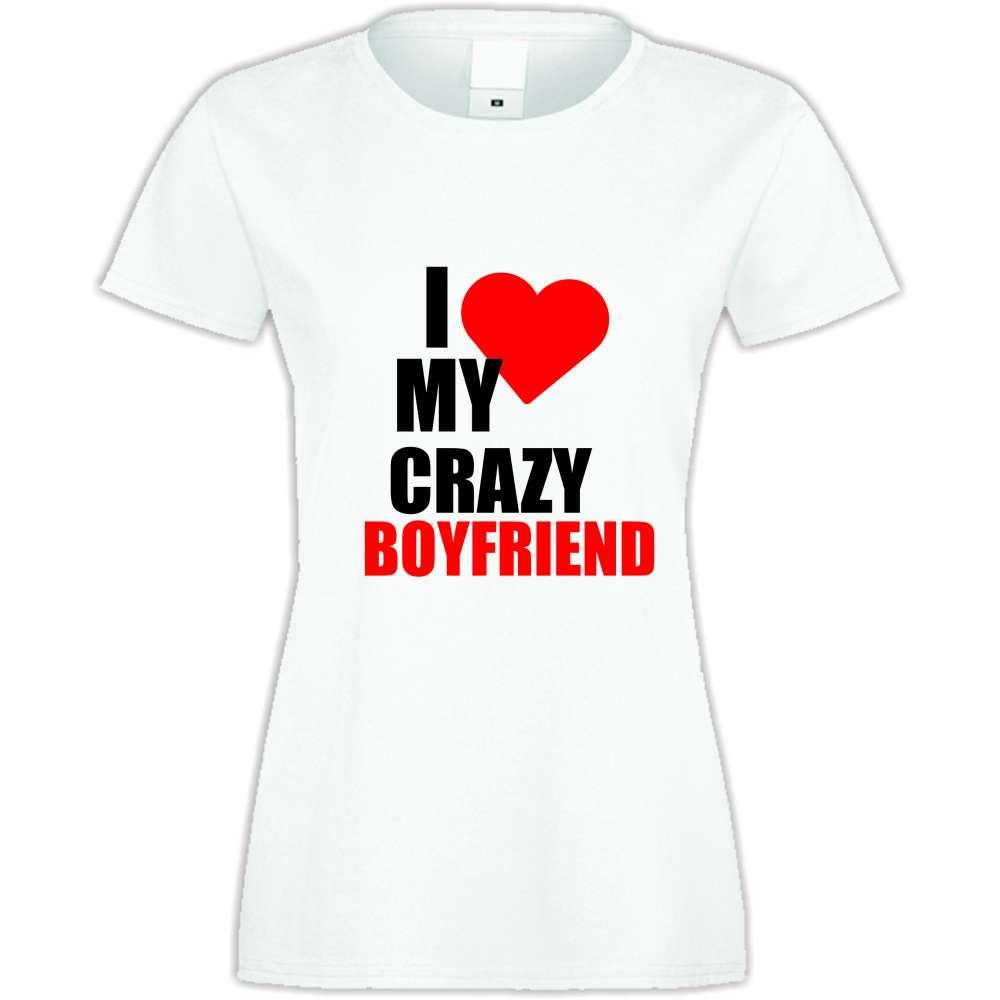Damské tričko Love Crazy Boyfriend S-W-027