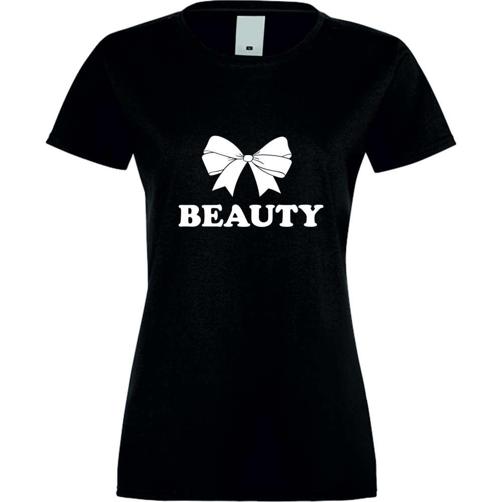 Damské tričko Beauty crna S-W-029B