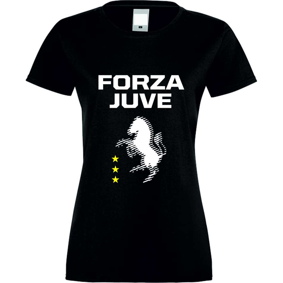 Damské tričko Forza Juventus crna S-W-037B