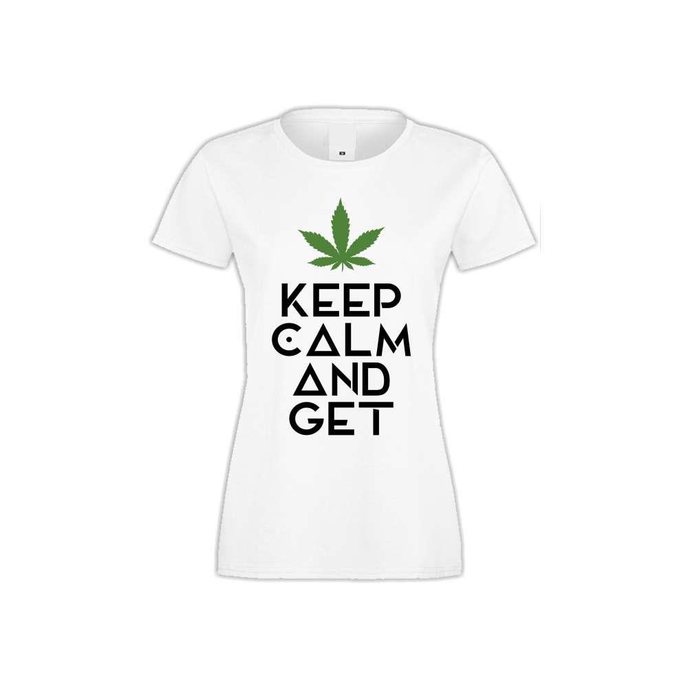 Damské tričko Keep Kalm and Get High  S-W-136