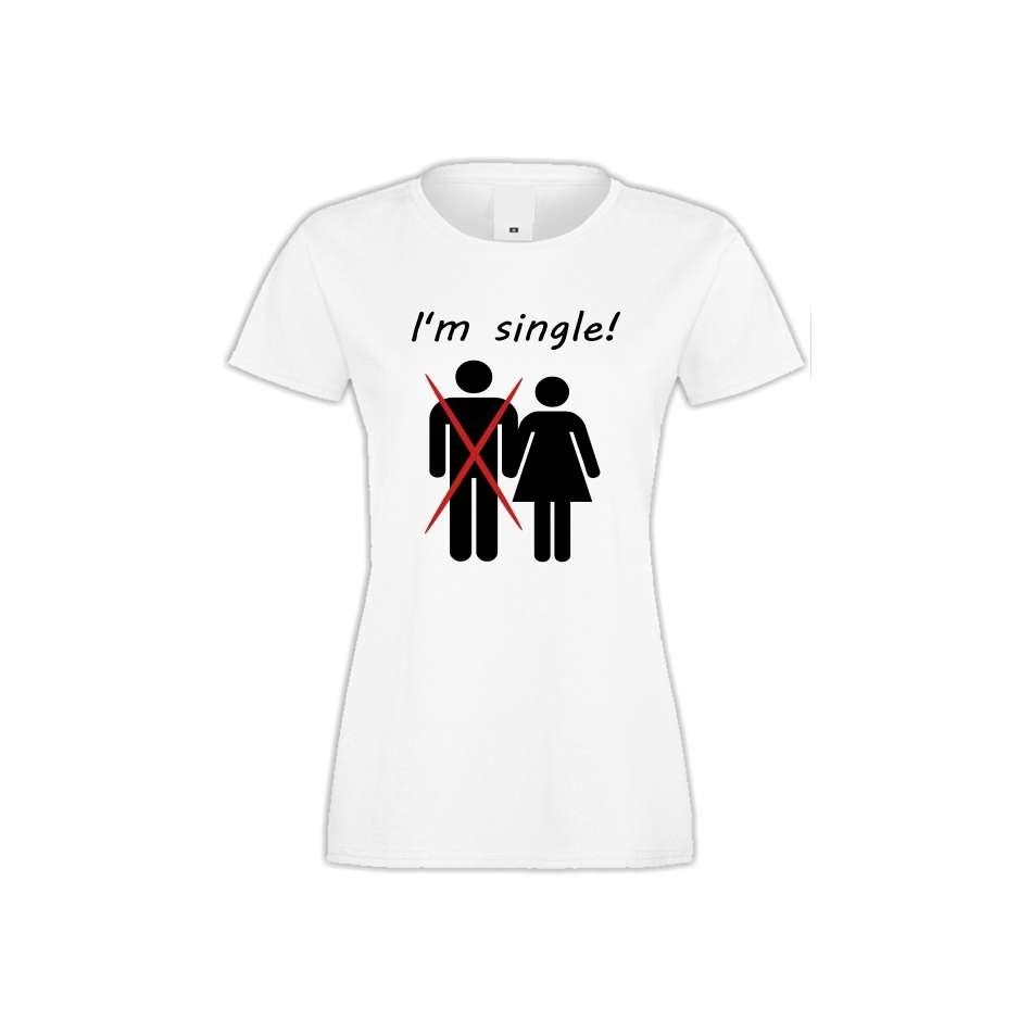 Damské tričko I'm single  S-W-141
