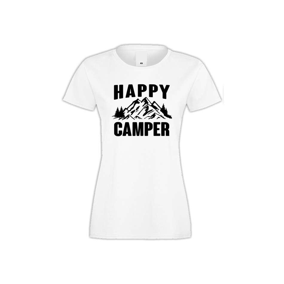 Damské tričko Happy Camper  S-W-146