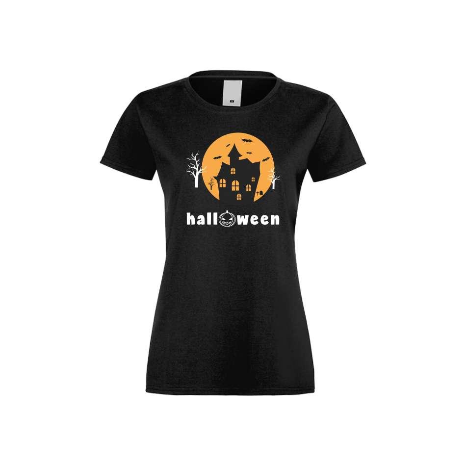 Damské tričko Halloween crna S-W-161B