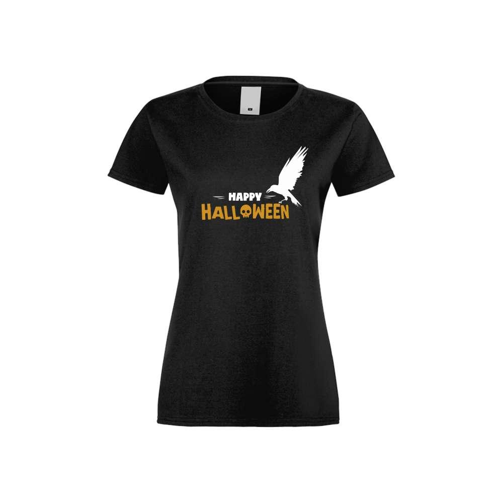 Damské tričko Happy Halloween crna S-W-164B