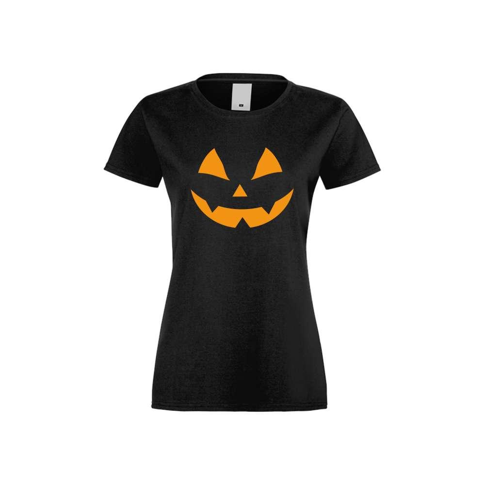 Damské tričko Halloween face crna S-W-167B