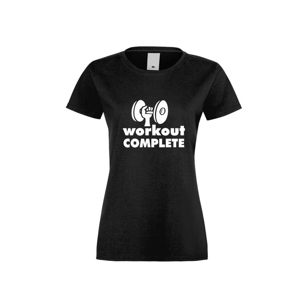 Damské tričko Workout complate crna S-W-FIT-012B