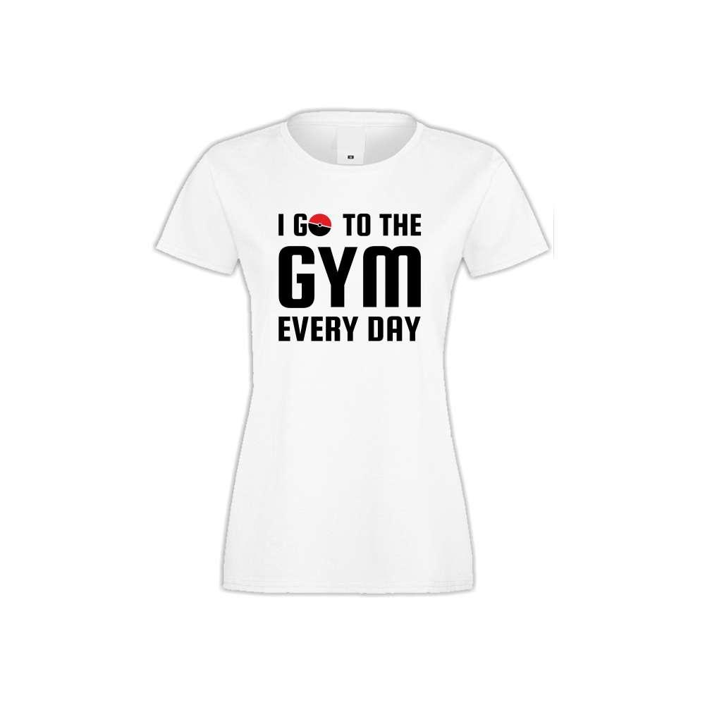 Damské tričko I Go To the Gym  S-W-FIT-013