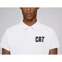 Bílé Polo tričko z 100% organické bavlny CR7