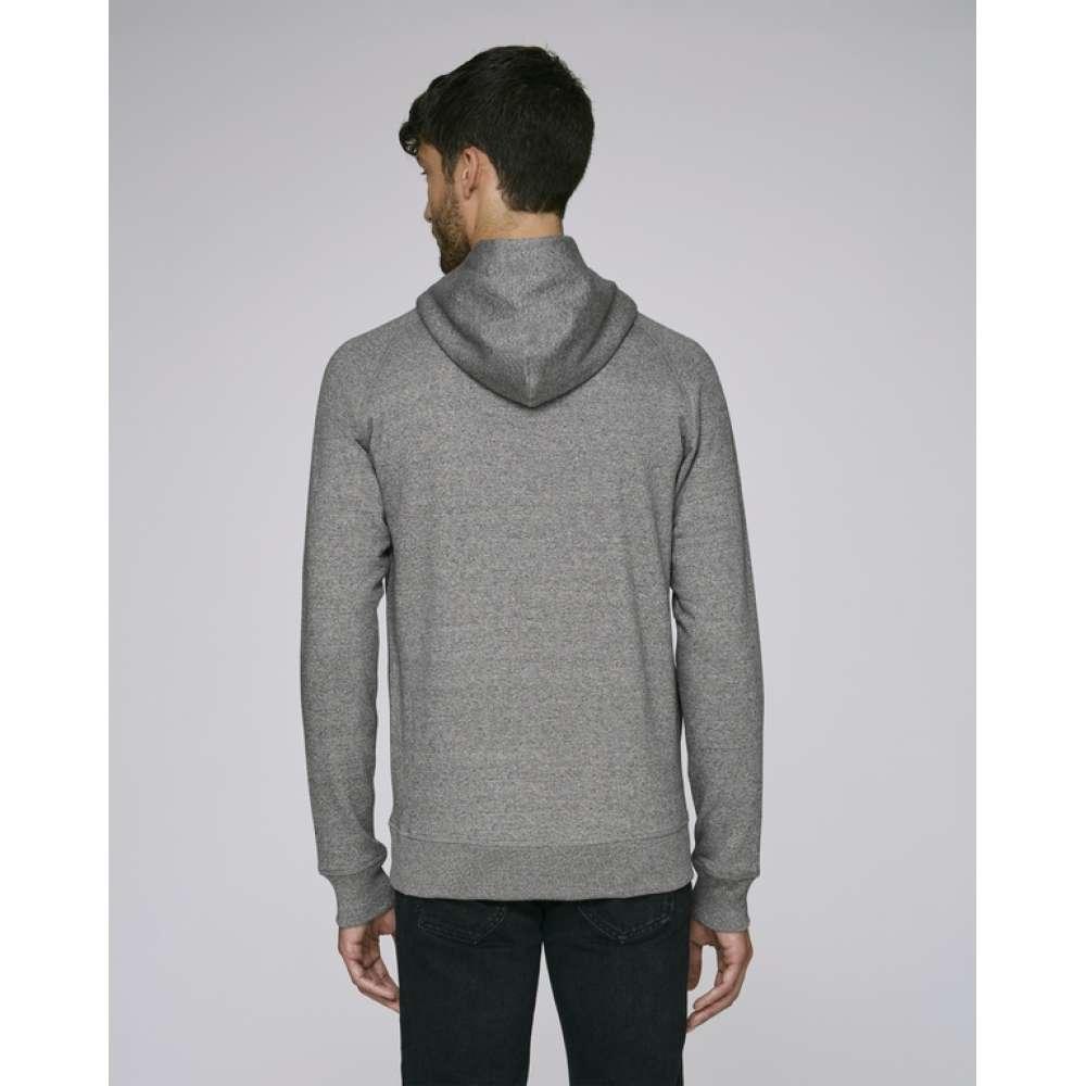 Pánská mikina z organické bavlny v šedé barvě