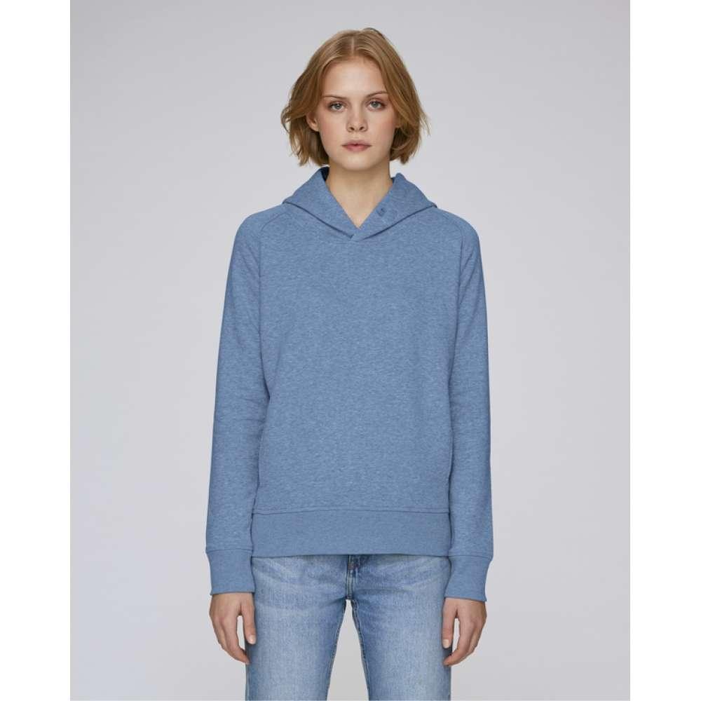 Dámská mikina z organické bavlny v modré barvě