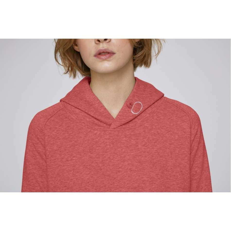 Dámská mikina z organické bavlny v červené barvě
