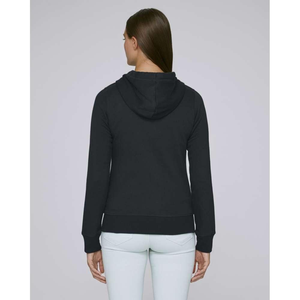 Černá dámská mikina se zipem z organické bavlny