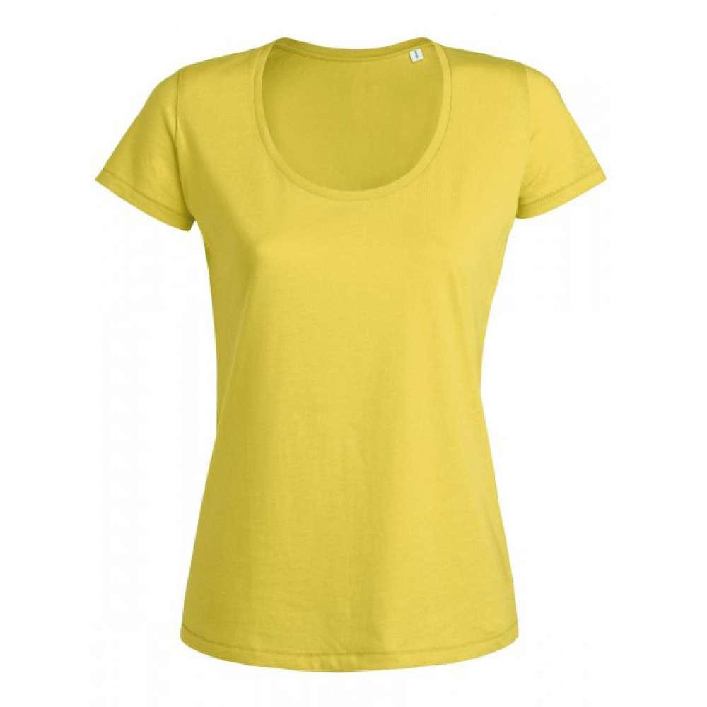 Žluté dámské triko 100% organická bavlna 24-020